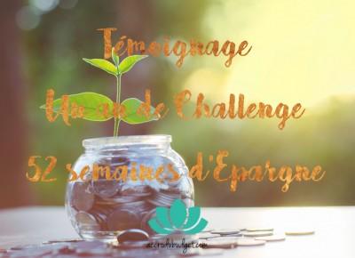 Témoignage challenge épargne