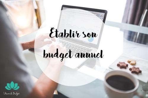 faire son budget annuel