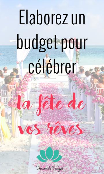 budget fête rêve