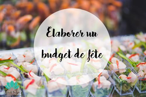 élaborer budget fête